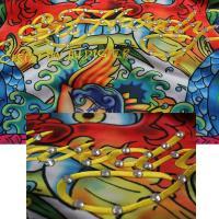 ED HARDY エドハーディー トラックジャケット (L・K・S) ブルー ブラウン メンズ 派手  ●JS29●一万円以上送料無料