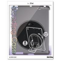 ☆GREENHOUSE iPad用スタンド付きシェルカバー ブラック GH-CA-IPADRK