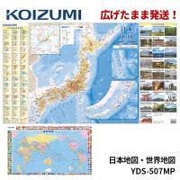 コイズミ 学習机 デスクマット 小学生の図鑑NEO 日本地図 YDS-965MP 学習デスク/学習机用 両面クリアマット KOIZUMI