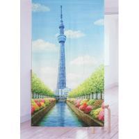 【東京の新名所】のれん スカイツリー2  のれんと言うより大きい絵を飾ってるような素敵なのれんです。...