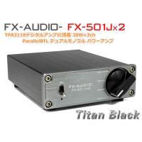 FX-AUDIO- FX-501Jx2[チタンブラック] TPA3118デジタルアンプIC搭載 30W×2ch ParallelBTL デュアルモノラル パワーアンプ