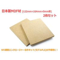 日本製MDF材 [122mm×104mm×9mm厚] 2枚セット