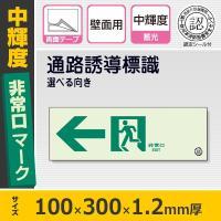 【サイズ】100×300×1.2mm厚 【材質】硬質蓄光板(15×250×2mm厚の両面テープ2本付...