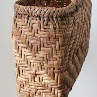 現品限り やまぶどう・皮巾5mm・表皮削ぎ・ダイヤ模様編み・ファッションバッグ(大) 藤春工房製作