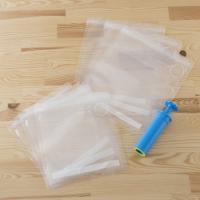 保存袋サイズ:M/230×275mm、S/200×220mm 真空ポンプサイズ:45×151mm 材...