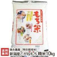 30年度新米 新潟産 特別栽培米 こがねもち 精米10kg(5kg×2)徳永農園 もち米/お歳暮ギフト お祝い 贈り物 のし無料 送料無料