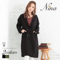 【Nina-ニーナ-】ベーシックチェスターコート(2colors) 秋冬  【商品説明】 ふわっと暖...