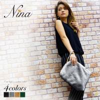 【Nina-ニーナ-】ファークラッチバッグ 【商品説明】 ふわふわ柔らかくて可愛いファークラッチバッ...