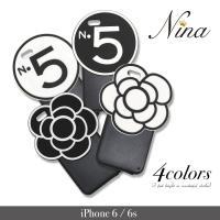 iphone6 iphone6s 花柄 モチーフ シリコンケース ブラック  【商品説明】 ipho...