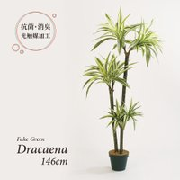 人工観葉植物 フェイクグリーン 観葉植物 造花 ドラセナ ツリー 鉢付 光触媒 大型 フェイク グリーン インテリア おしゃれ 146cm