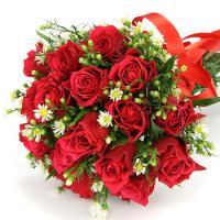 お祝い 開店祝い お中元 プレゼント 人気ランキング 花束 20本 赤バラの花束 誕生日 結婚記念日 プレゼント