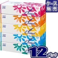 エルモア ティッシュ 200組 5箱  (ケース12入)まとめ買い 60箱 ティシュペーパー エルモア