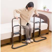 商品番号:SD4737495 商品名 :アルミ製らくらく立ち上がり手すり1個 日本製  膝や腰の負担...