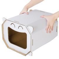 狭いお部屋でも使いやすい、ボックスタイプのキャットハウスです。素材は加工が簡単で、一般のものよりも強...