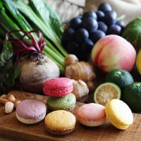 【富士山麓の野菜や果実を使って焼いたマカロン自然で優しい風味が広がります】富士山麓固有の厳しい環境で...
