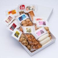 【有明海の新鮮な魚をはじめ地元産の野菜や鶏肉などを練り込んだ天ぷら(練り物)やちくわ、かまぼこのセッ...
