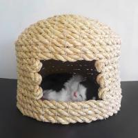 【伝統的製法で作られた猫ちゃんのための寝室 少し小さめ】種から育てたこだわりのワラ使用した猫ちぐらで...