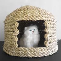 【伝統的製法で作られた猫ちゃんのための寝室 1匹】種から育てたこだわりのワラ使用した猫ちぐらです。 ...