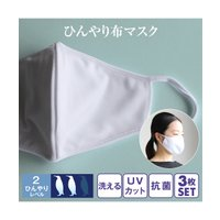 マスク 洗える ひんやり 抗菌布 同色3枚セット UVカット 夏 ニッセン