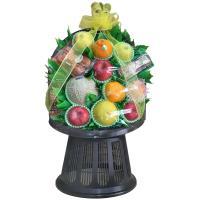 新鮮な果物の盛り籠で、豪華な見栄えです。 裏から見てもフルーツがぎっしり! 当店一押しの、豪華なセッ...