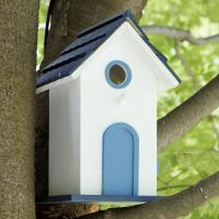 北欧風のデザインがとっても可愛らしいバードハウスです。 巣箱としてはもちろん、お庭のアクセントやイン...