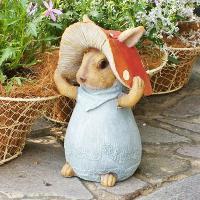 【お庭のフォーカルポイントに、きのこうさぎ!】 きのこ+うさぎの、きのこうさぎ!細かい部分までしっか...