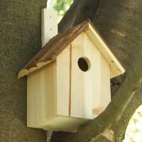 木目を活かしたナチュラルバードハウス。装飾をしないシンプルなバードハウス。お庭になじみやすいデザイン...
