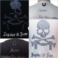 Jupiter&Juno  ジュピターアンドジュノ  Skull Rhinestone Short Sleeve Tee(スカルラインストーン半袖 Tシャツ)