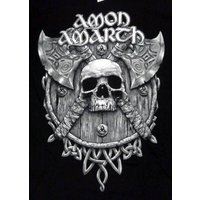 AMON AMARTH「GREY SKULL」Tシャツ
