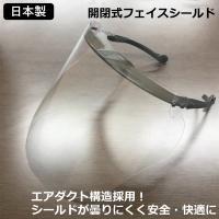 フェイスシールド 日本製 開閉式 耐久性高 医療 防塵・飛沫防止