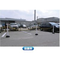 AZチェーンポール ブラウン チェーンスタンド 駐車場 ポール 車止め 注水式|nogyo-shizai|03