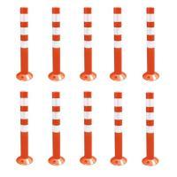 10本セット 車線分離標 コーンポスト 75cm ガイドポスト 反射 ポール ガード