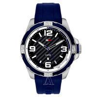 トミーヒルフィガーのラウンド型腕時計です。 汗をかいてもべたつきにくく、汚れてもお手入れしやすいシリ...