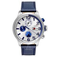 トミーヒルフィガーのラウンド型腕時計です。 腕に馴染む肌あたりが柔らかいレザーを使用しています。 ブ...