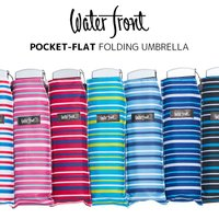 ウォーターフロント/シューズセレクションの折りたたみ傘、ポケフラット。収納時の厚みが約2.5cmのと...