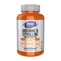 ナウスポーツ アルギニン500mg&シトルリン250mg 120粒 NOW SPORTS L-Arginine 500mg & Citrulline 250mg 120CAP NOW FOODS