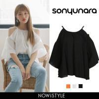 Tシャツ レディース おしゃれ 半袖 オープンショルダーフレア 韓国 ファッション