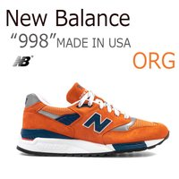 【送料無料】New Balance 998 MADE IN USA / オレンジ 【ニューバランス】...