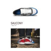 サッカニー Saucony メンズ JAZZ 91 ジャズ91 WHITE BLUE RED ホワイト ブルー レッド S70216-1 スニーカー シューズ