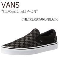 【送料無料】Vans/Classic Slip-On/Checkerboard/Black【バンズ】...