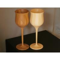 【送料無料】 竹素材の良さが生きる 。竹製 ワインカップ ペア white/brown カップ 夫婦...