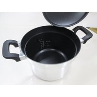 蒸らしまで31分!炊飯鍋でふっくらごはん 炊飯器の代わりの炊飯鍋で、手軽に自動炊飯。内側にご飯が付き...