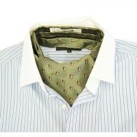 イタリアの名門ブランドのマレリー社が作り出すおしゃれなふくろうのアスコットスカーフ。  ネクタイを締...