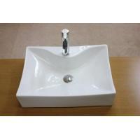 角型でシンプルな洗面ボウル、排水栓、排水Sトラップセット。 トイレ、洗面所、屋外手洗い場など様々な場...