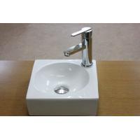 角型でコンパクトな洗面ボウル、排水栓、排水Sトラップセット。 トイレ、洗面所、屋外手洗い場など様々な...