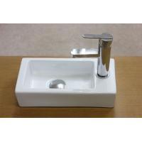 小型で角型の洗面ボウル、排水栓、排水Sトラップセット。  【商品名】洗面ボウルKORS-1134、排...