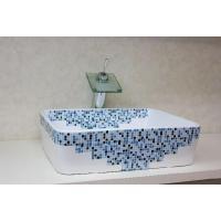 おしゃれな角型の洗面ボウル、排水栓、排水Sトラップセット。 トイレ、洗面所、屋外手洗い場など様々な場...