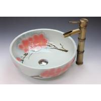和風な丸型の洗面ボウル、排水栓、排水Sトラップセット。 トイレ、洗面所、屋外手洗い場など様々な場所で...