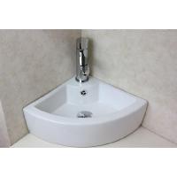 コーナー設置タイプの洗面ボウル、排水栓、排水Sトラップセット。 トイレ、洗面所、屋外手洗い場など様々...