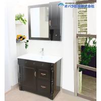 おしゃれなアンティークタイプの洗面化粧台。同じタイプの白もございます(KOTS-5067-1) 排水...